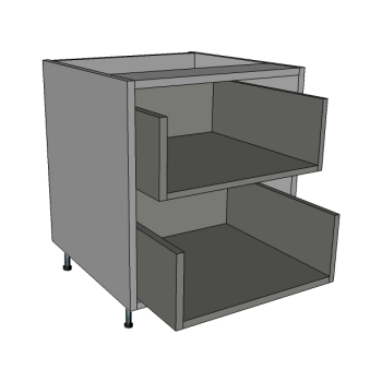 2 Deep Drawers Bedside Cabinet