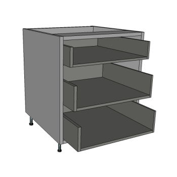 3 Shallow Drawers Bedside Cabinet