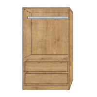 Children`s Wardrobe, Short Hanging space & 2 Drawers