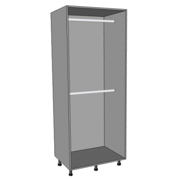 Double Hanging Wardrobes, Middle Shelf & Double Hanging