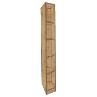 Fully shelved Angled Wardrobe