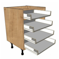 4 Shallow Drawer units - Soft close drawer