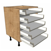 5 Shallow Drawer units - Soft close drawer