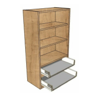 400 Dresser Unit, 2 Soft close Drawers