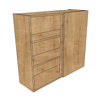 900mm High Tall Corner Wall Units