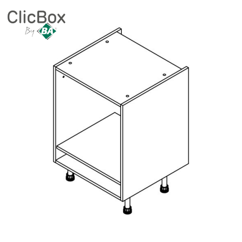 Clicbox Light Grey Oven Housing Base Unit