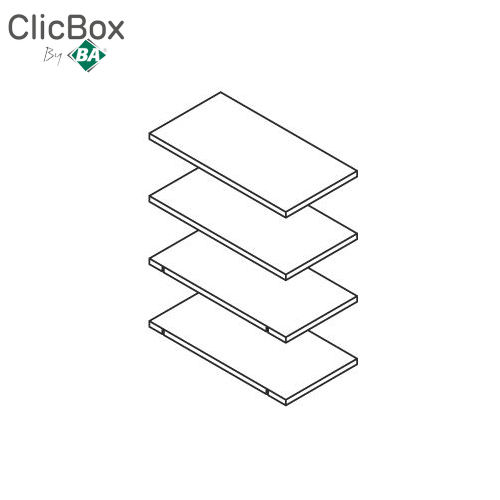 Clicbox Shelf Pack for 300 Tall Unit