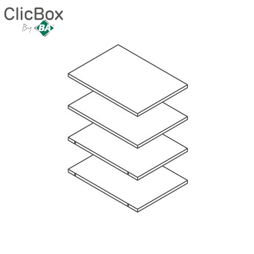 Clicbox White Shelf Pack for 400 Tall Units