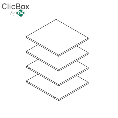 Clicbox White Shelf Pack for 500 Tall Units