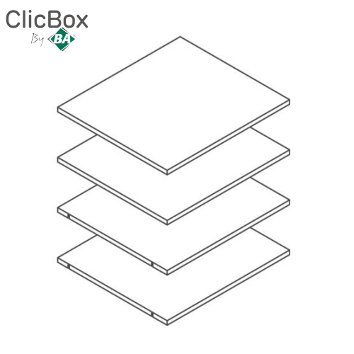 Clicbox White Shelf Pack for 600 Tall Units