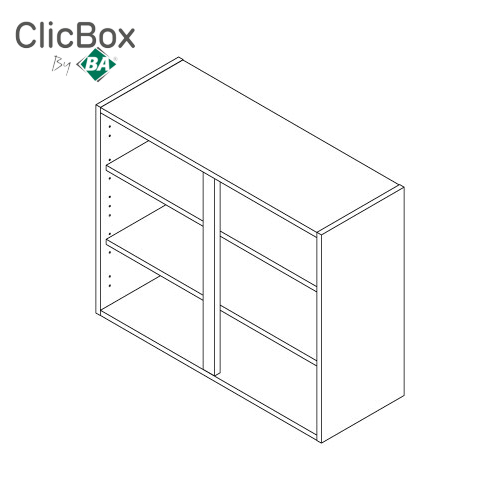 Clicbox Urban Oak 720 High standard Wall Double Unit