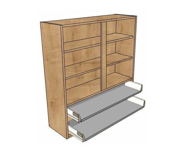 800 dresser unit 4 metabox dwrs 1065 high diy kitchen for Kitchen cabinets 800mm wide