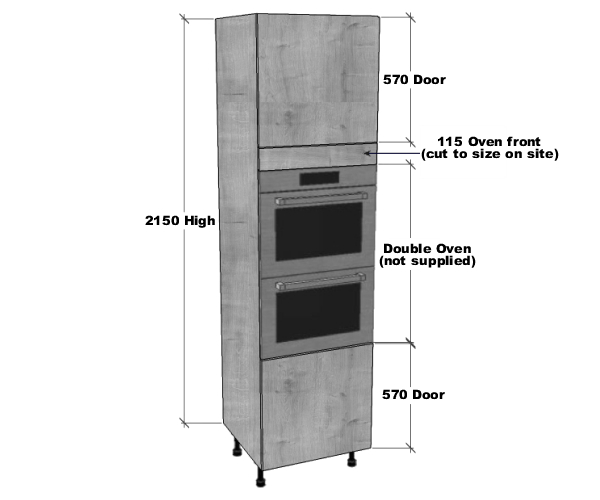 double oven housing unit 2150mm high bestq kitchens