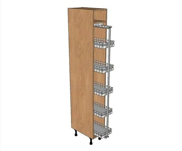 400 larder fitted with soft close pull out system 2150mm for Tall fitted kitchen unit