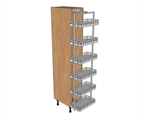 600 larder fitted with swing out system 1970mm high diy for Tall fitted kitchen unit