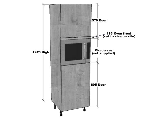 Microwave Housing Unit 1970mm High Bestq Kitchens