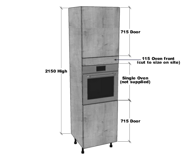 Single Oven Housing Unit 2150mm High