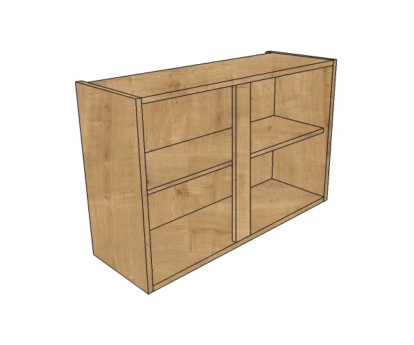 800 short double wall unit diy kitchen units for Double kitchen wall unit