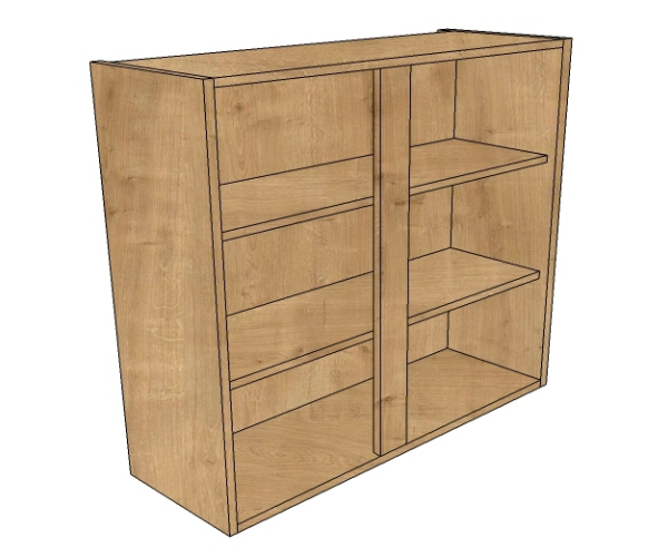 1000mm wide medium height wall unit bestq kitchens for Double kitchen wall unit