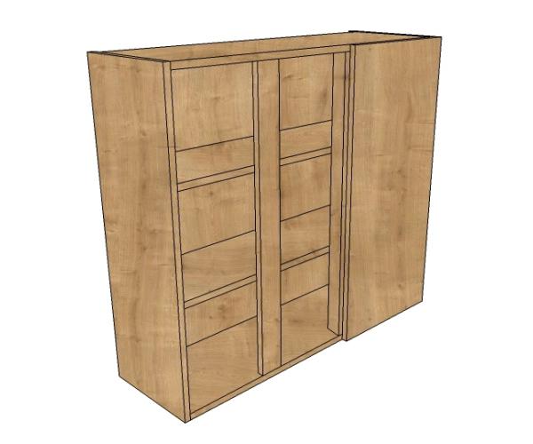1200 blind corner wall 900 high diy kitchen units for Kitchen cabinets 900mm wide