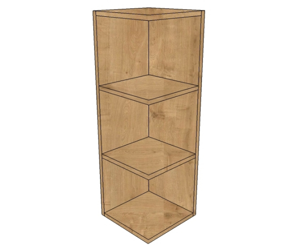 Open Kitchen Wall Units: 900 Tall Height Square Open End Wall Unit