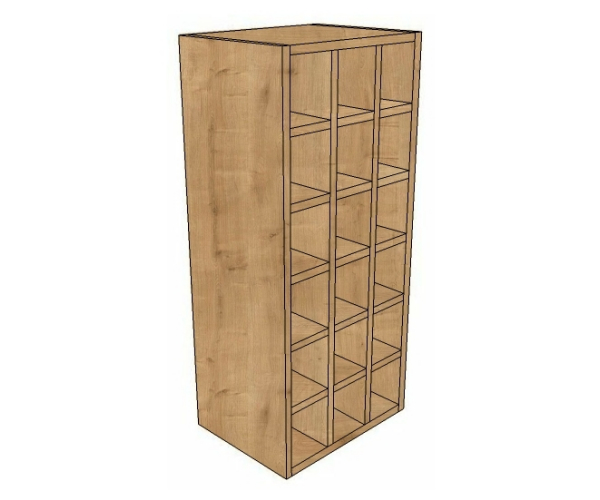 400 wide wine rack wall unit 900 high for Large kitchen wall units