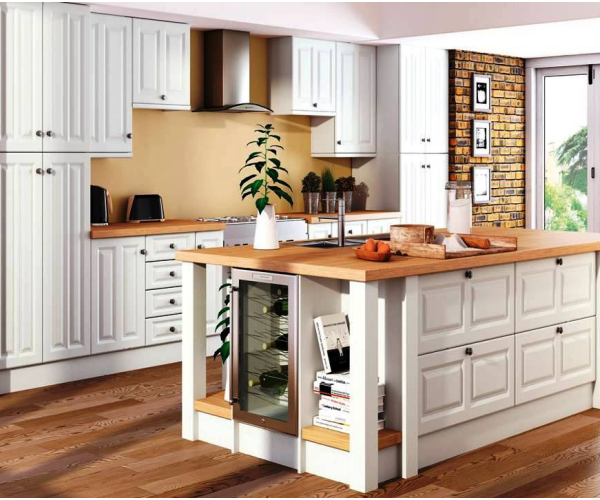 Milano Super White Ash Kitchen