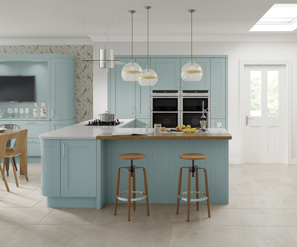 Cambridge Custom Painted Fjord Kitchen