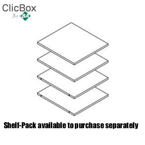 Clicbox Anthracite Shelf Pack