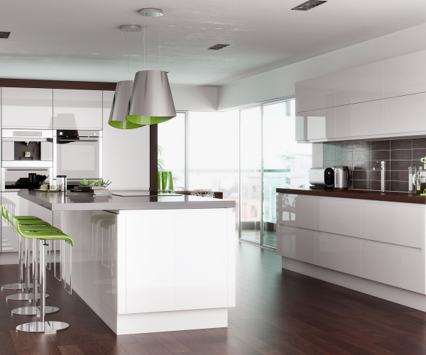 Lucente Handleless Gloss White Kitchen
