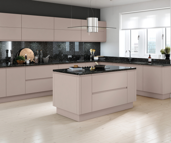 Lucente Handleless Matt Cashmere Kitchen