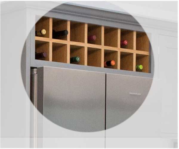 920 Wide X 300mm High Above Fridge Wine Rack Bestq Kitchens