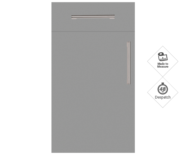 Firbeck Super-Matt Dust Grey Doors