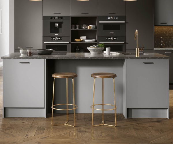 Firbeck Super-Matt Dust Grey Kitchen Island