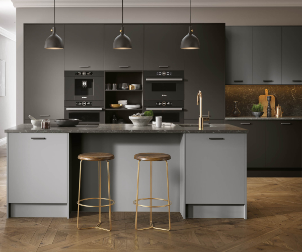 Firbeck Super-Matt Graphite and Dust Grey Kitchen