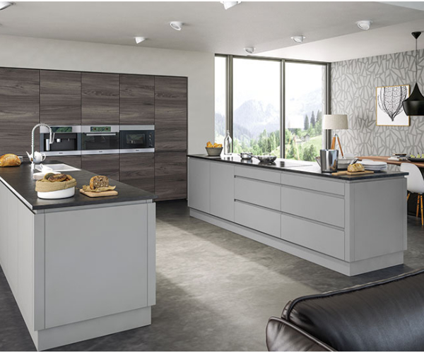 Kitchen Doors Uk Cheap: Rothwell Supermatt Handleless Kitchen Doors