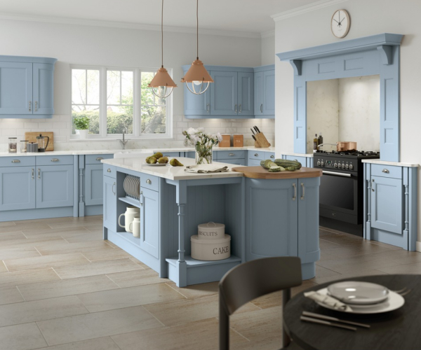 Windsor Custom Painted Denim Kitchen