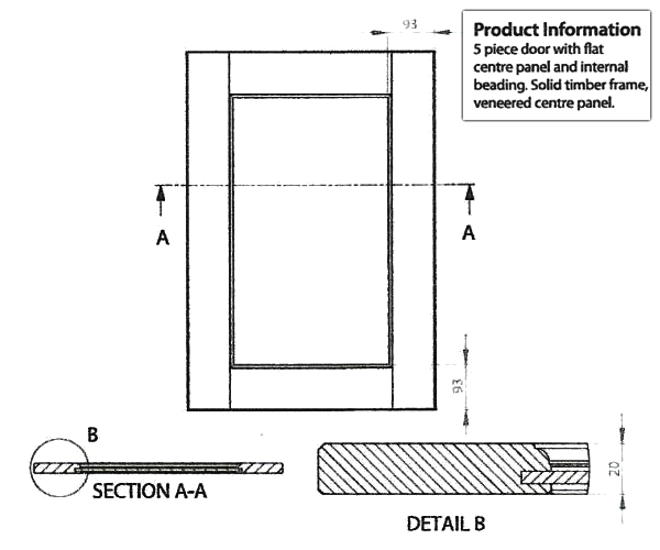 Windsor Door technical drawing