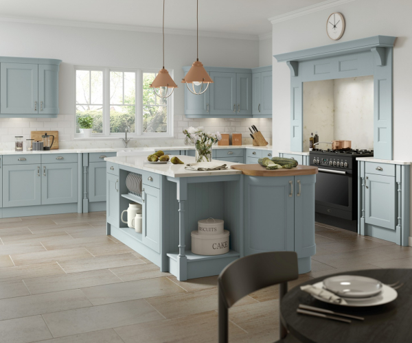 Windsor Custom Painted Fjord Kitchen