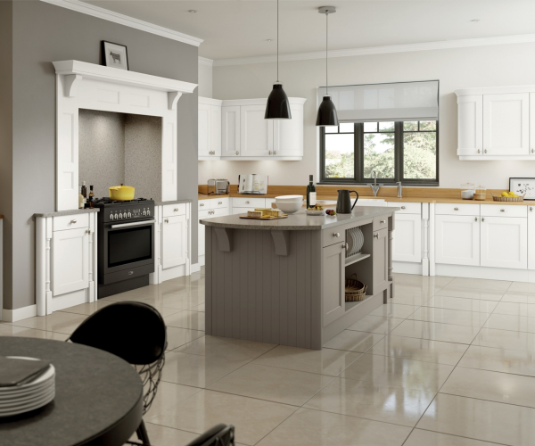 Windsor Custom Painted Super White Kitchen