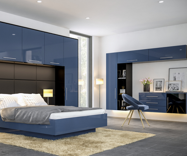 Zurfiz Ultragloss Baltic Blue Bedroom