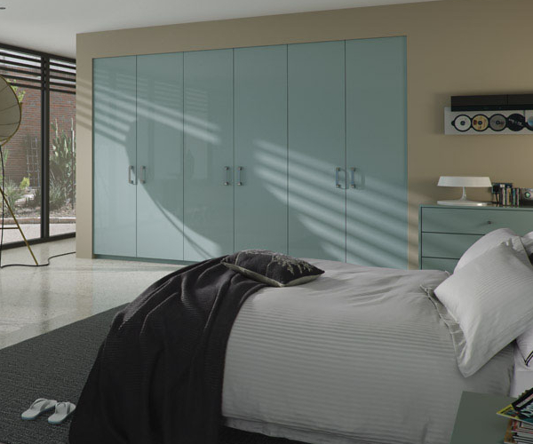Zurfiz Ultragloss Metallic Blue  Bedroom