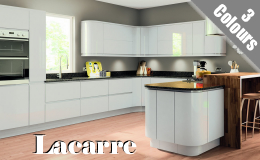 Lacarre Handleless Kitchen Doors, Available in 3 High Gloss colours